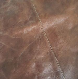 Kiko Bags - Cognac Brown Leather Minimalist Tote Handbag